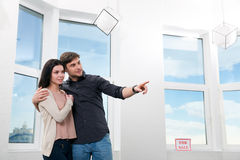 Couple in searching the real estate for a purchase Stock Photo