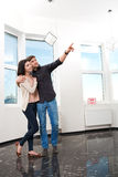 Couple in searching the real estate for a purchase Stock Images
