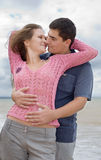 Couple on seashore Royalty Free Stock Photo
