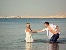Couple on the seaside Royalty Free Stock Image