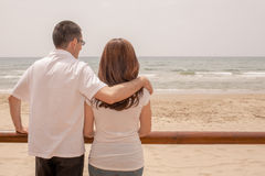 Couple Seaside Royalty Free Stock Images
