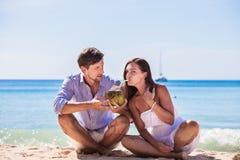 Couple at seaside royalty free stock image