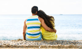 Couple at seaside Stock Image