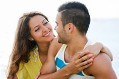 Couple at seaside Stock Photography