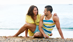 Couple at seaside Royalty Free Stock Images