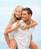 Couple at seaside Royalty Free Stock Photo