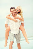 Couple at seaside Royalty Free Stock Photos