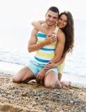 Couple at seaside Stock Image