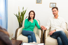 Couple Seeing A Psychotherapist Stock Photos