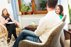 Couple Seeing A Psychotherapist Stock Image