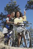 Couple Self Photographing On Bicycle Royalty Free Stock Photo