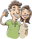 Couple Selfie Royalty Free Stock Images