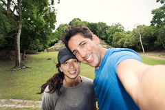 Couple Selfie in the Jungle Royalty Free Stock Image