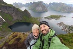 Couple selfie Stock Image