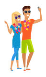 Couple Selfie on Summer Vacation Royalty Free Stock Images