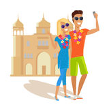 Couple Selfie on Summer Vacation in India Royalty Free Stock Images