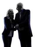 Couple senior silhouette Stock Images