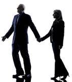 Couple senior silhouette Royalty Free Stock Photography