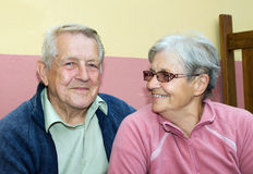 Couple of seniors Stock Image