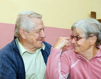 Couple of seniors having fun Royalty Free Stock Images