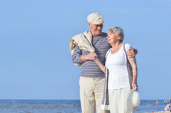 Couple seniors on vacation Royalty Free Stock Photo