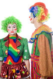 A couple of serious clowns Stock Photography
