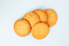 Couple of sesame cookies Royalty Free Stock Photography