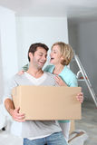 Couple setting up home Royalty Free Stock Image