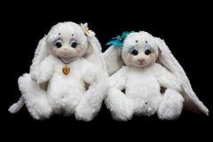 Couple sewn rabbits Stock Image
