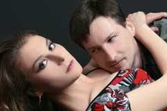 Couple sexuality. Man and woman. Portrait of seductive couple Royalty Free Stock Photos