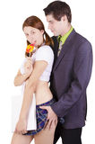 Couple in a role playing game. Royalty Free Stock Image