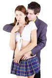Couple in a role playing game. Royalty Free Stock Photography