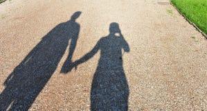 Couple shadow royalty free stock photos