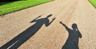 Couple shadow Stock Photos