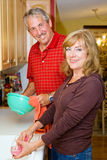 Couple Shares Chores Royalty Free Stock Photos