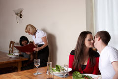 A couple sharing a seceret Stock Images
