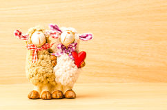 Couple sheep doll Stock Photos