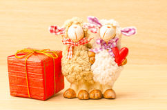Couple sheep doll Royalty Free Stock Photography