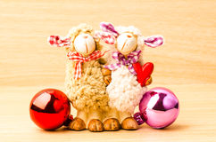 Couple sheep doll Royalty Free Stock Images
