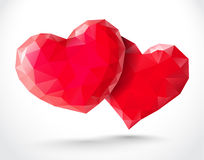Couple of shiny hearts Royalty Free Stock Images