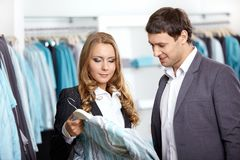 Couple in shop Royalty Free Stock Image