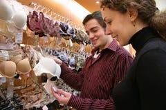 Couple in shop Stock Photos