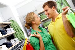 Couple in the shop Royalty Free Stock Images