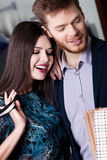 Couple is in the shop, close up Royalty Free Stock Images