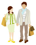 Couple Shopper Royalty Free Stock Photography