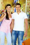 Couple of shoppers Royalty Free Stock Photography