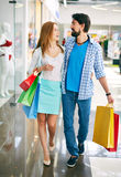 Couple of shoppers Stock Images