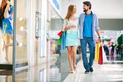 Couple of shoppers Stock Photos