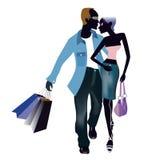 Couple shopping Royalty Free Stock Photos