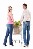 Couple with shopping Stock Image